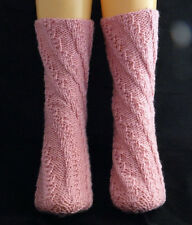 Instructions from Knitwitzuk Spiral Socks Knitting Pattern. One size fits all.