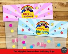 THE WIGGLES PERSONALISED LOLLY BAG TAG BIRTHDAY PARTY FAVOUR LOOT BAG TOPPER