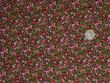 100% COTTON - SMALL ALL OVER FLORAL - DRESS FABRIC - 2 METRES