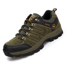 Men's walking sneakers travel casual fashion athletic leather comfy brown shoes