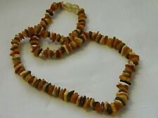 Baltic Amber Necklace Natural Unpolished Multicoloured Amber Stones