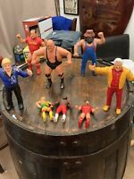 LJN Wrestling Figures - 8 In Total - Bobby Heenan, Hillbilly Jim, Classier Etc