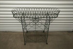 Victorian Two-Level Wire Plant Stand