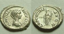 Rare Ancien Romain Pièce Argent Plautilla Concordia 203AD Denier D'Argent