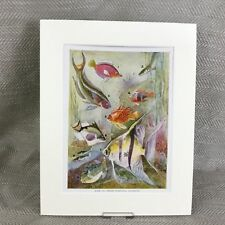 Vintage Art Deco Print Tropical Fish Angel Sea Life Ca. 1930s