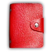 Unisex Fashion Mini PU Leather 24 ID Card Credit Holder Pocket Wallet Case Purse
