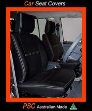 FRONT PAIR (2) PREMIUM FULL-BACK NEOPRENE SEAT COVERS - 100% FIT NAVARA NP300