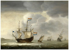 "Maritime ""Ship off the Coast"" Jacob Gerritz Loef ca. 1650"