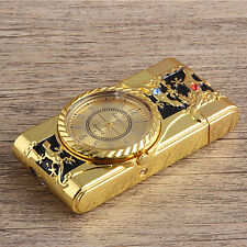 Multifunctional Cigarette Lighter Gold Quartz Watch For Men