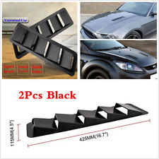 2× Universal Car Hood Vent Louver Cooling Panel Decoration Black ABS Moulding