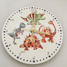 Dinosaur Wall Clock Battery Operated Prehistoric T-Rex Stegosaurus Children Kids