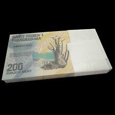 1/2 Bundle Lot 50 PCS, Madagascar 200 Ariary, 2017, P-NEW, banknotes, UNC