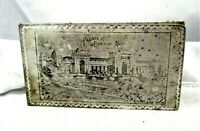 1904 ALUMINUM Jefferson St.Louis World's Fair Card Case Or Maybe Cigarette Case?