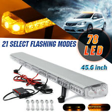 "45.6"" inch Emergency Flashing Lamp Bar 78 LED Amber Car Strobe Light Warning +"