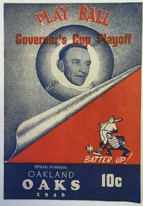 1946 Governor's Cup Playoff PCL Oaks vs Angels Baseball Program