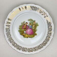 Winterling Schwarzenbach Bavaria Germany Fragonard Plate Courting Couple Gold