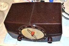 "MOTOROLA 6X11U ""PROPELLER"" VACUUM TUBE AM TABLE RADIO 1950 pro serviced"