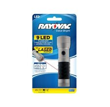 Rayovac - Gp3Aaalsr-B 9 Led Flashlight with Laser - 3 Aaa