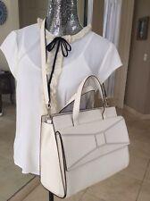 KATE SPADE bridge place CHANTAL handbag white leather satchel bow bag NWT