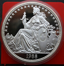 Suiza-Switzerland: 5 oz-1988, plata pura, Limited. Edition, pp-proof, #f1133