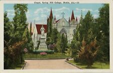 Old Postcard - Chapel - Spring Hill College - Mobile Al