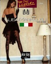 Luisa Maria Lugli Lina Leaves Design Tights 40 Den Pantyhose  Black Size L