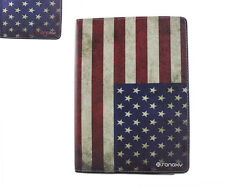 (American USA FLAG) PU Leather Folio Folder Case Stand for 9.7New 2017 iPad/ Air