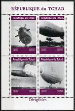 Chad 2019 MNH Dirigibles Airships Hindenburg Disaster 4v M/S Aviation Stamps