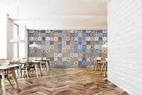 3D Quadrat Farbe Floral 2 Textur Fliese Marmor Tapete Abziehbild Tapete Wandbild