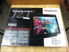 BRAUN DigiFrame 1220 digitaler Bilderrahmen 12,1 Zoll, 1080p HD! TOP! OVP!