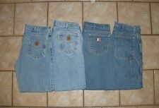LOT of 4 CARHARTT B17 B180 C.E.SCHMIDT Denim work pants jeans mens 36 x 30