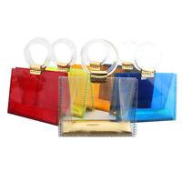 transparent women bags clutch evening bag top-handle handbags acrylic tote pouch