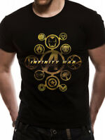 Avengers Infinity War Heroes Icon Official Marvel Black Mens T-shirt