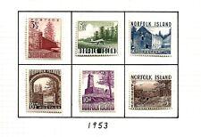 More details for norfolk isle (d-62) 1953 sg13-18  pictorial  full set of 6 fine mm / mh