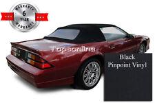 Camaro & Firebird Convertible Top With Plastic Window & Video, Black Vinyl 87-89