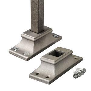 Wrought Iron Landing Staircase Spindle Shoe Baluster Bracket Pk of 10 Inc Screws