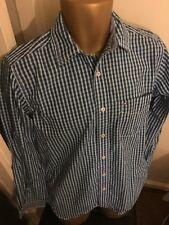 Tommy Hilfiger Camisa para hombre cuadros azules a estrenar Talla XS