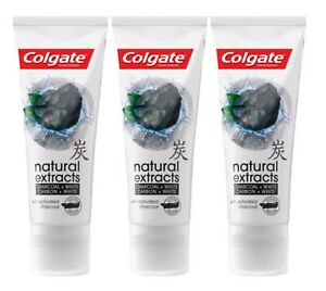 Colgate Whitening  Natural Extracts  Toothpaste Activated 3 x75 ml