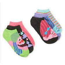 Dreamworks Trolls Womens 6 Pack Socks Shoe Sz 4 - 10 Multi Color Socks D8298H