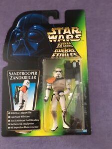 """Star Wars figure Sandtrooper 3.75"""" Mint on card Kenner 1996"""
