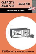 B&K 801 Capacity Analyzer Manual