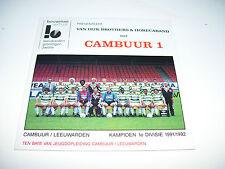 CAMBUUR VAN DIJK BROTHERS & HORECABAND * RARE CD SINGLE KAMPIOEN 1991 / 1992 *