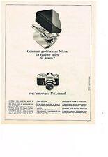 PUBLICITE  1966    NIKON   appareil photo NIKKORMAT
