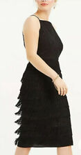 Fringe Pencil Dress by Oasis Size 12 Tassle, Flapper,black Party New Worth £80