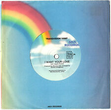 """TRANSVISION VAMP - I WANT YOUR LOVE - EP 7"""" 45 VINYL RECORD 1988"""