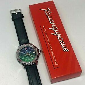 russian vostok komandirskie 811818 paratrooper military wrist watch new rare