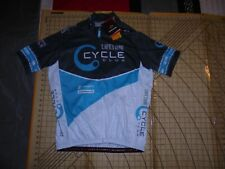 MENS XLARGE HINCAPIE BLUE/WHITE LIFETIME CYCLE CLUB CYCLE JERSEY - NWT
