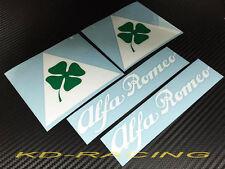 Alfa Romeo Cloverleaf Triangle Sticker Decals 4C 8C GTV GTA Giulia Free Ship