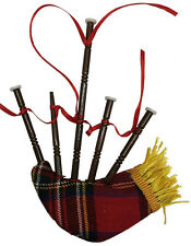 SCOTTISH BAGPIPE w/ CLOTH BAG MUSICAL INSTRUMENT XMAS ORNAMENT GIFT BOXED OBP