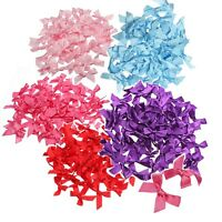50/100 X 7mm Satin Ribbon Bow Gift Scrapbooking For DIY Decoration Craft Hot